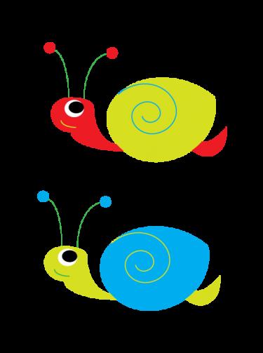 Secret Garden Snails Clipart.