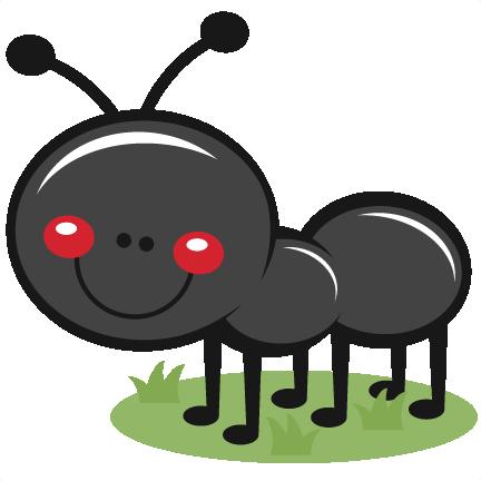 Ant in Grass SVG scrapbook cut file cute clipart files for.