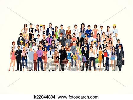 Large group of people Clipart.