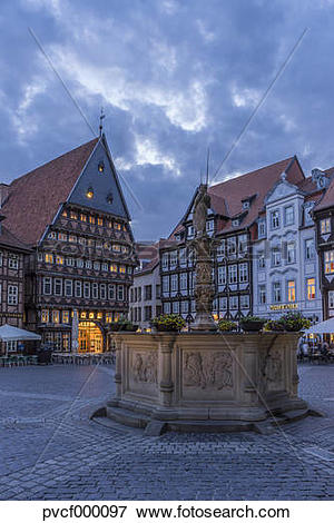 Picture of Germany, Lowe Saxony, Hildesheim, Market place, Roland.