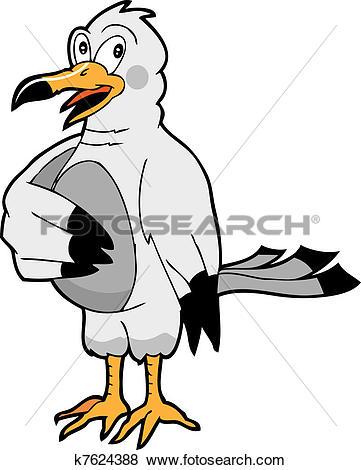 Clip Art of gull k7624388.