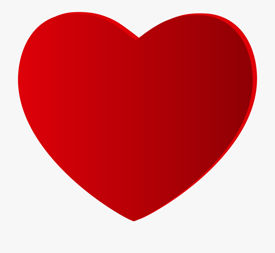 Excelent Large Red Heart Png Clipart.