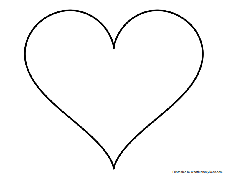 Super Sized Heart Outline.