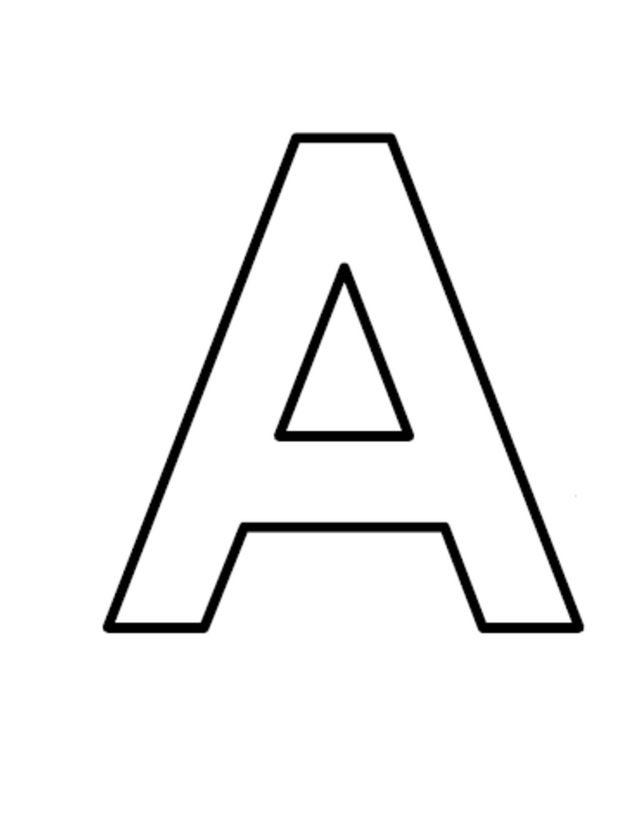 Large Block Letters.