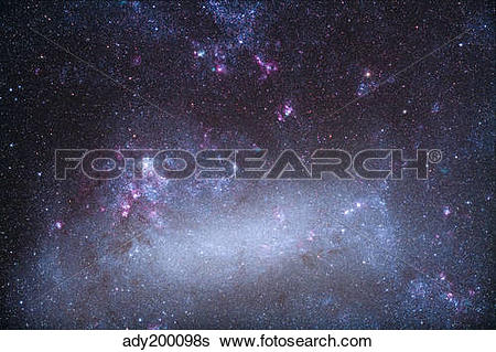 Stock Images of The Tarantula Nebula in the Large Magellanic Cloud.