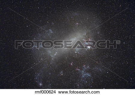 Stock Photo of Large Magellanic Cloud, galaxy rmf000624.