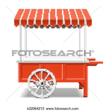 Clipart of Red farmer's market cart k22064213.