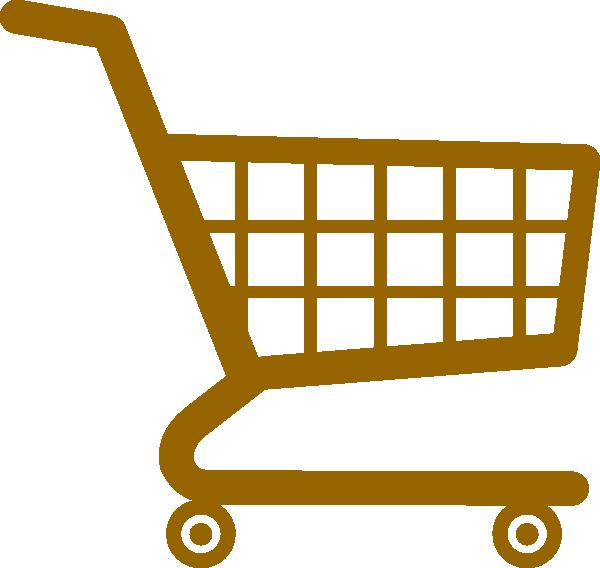 Shopping Cart Market Brown Clip Art at Clker.com.