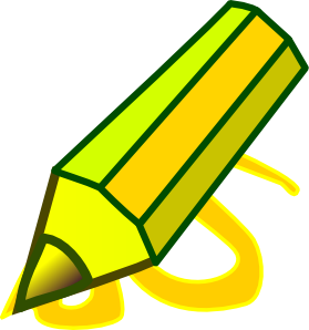 Large Yellow Pencil Clip Art.