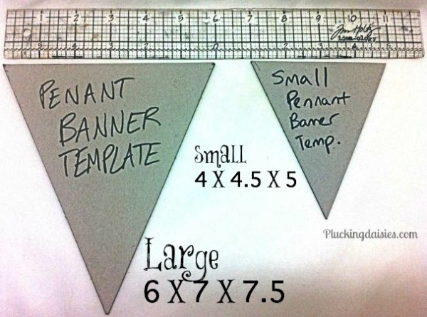 Creating a Pennant Template. For large Pennants measure 6 in.