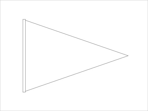 Pennant Banner Template.