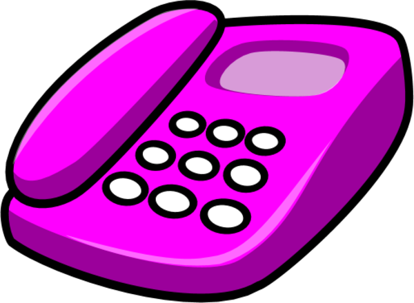 Clip Art Of Telephone Ringing In Earth Colors Clipart.