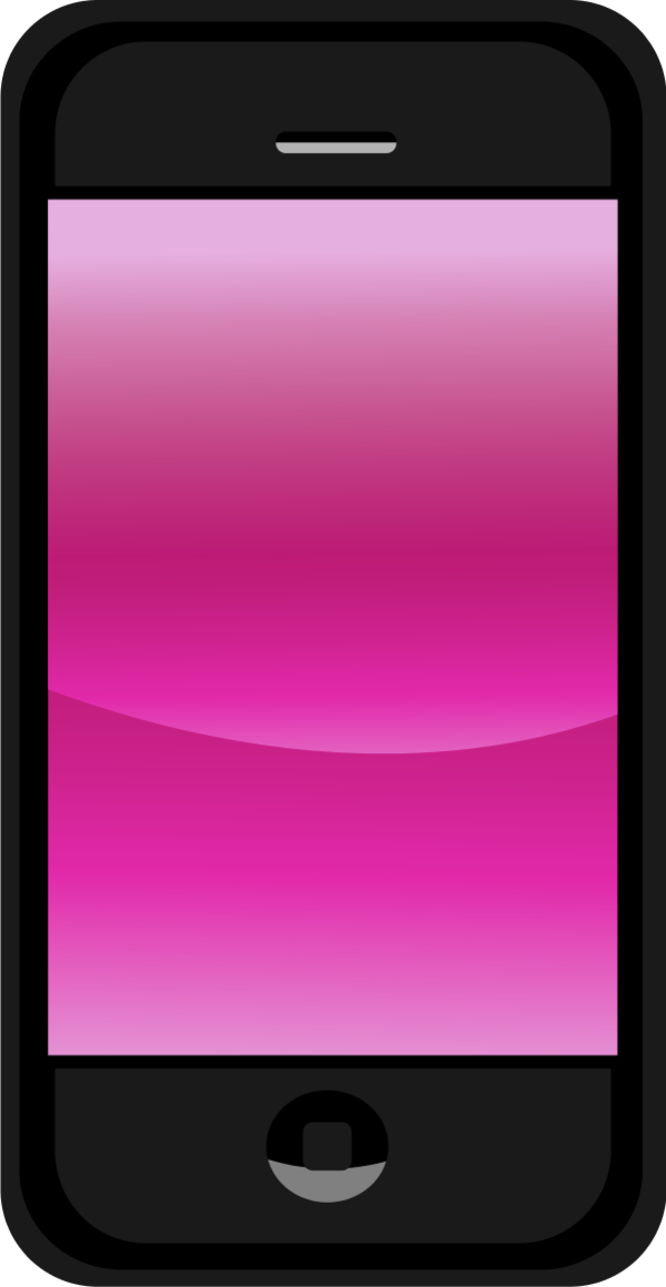 Pink cell phone clipart.