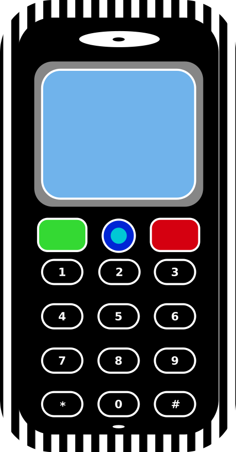 Mobile Phone large 900pixel clipart, Mobile Phone design.