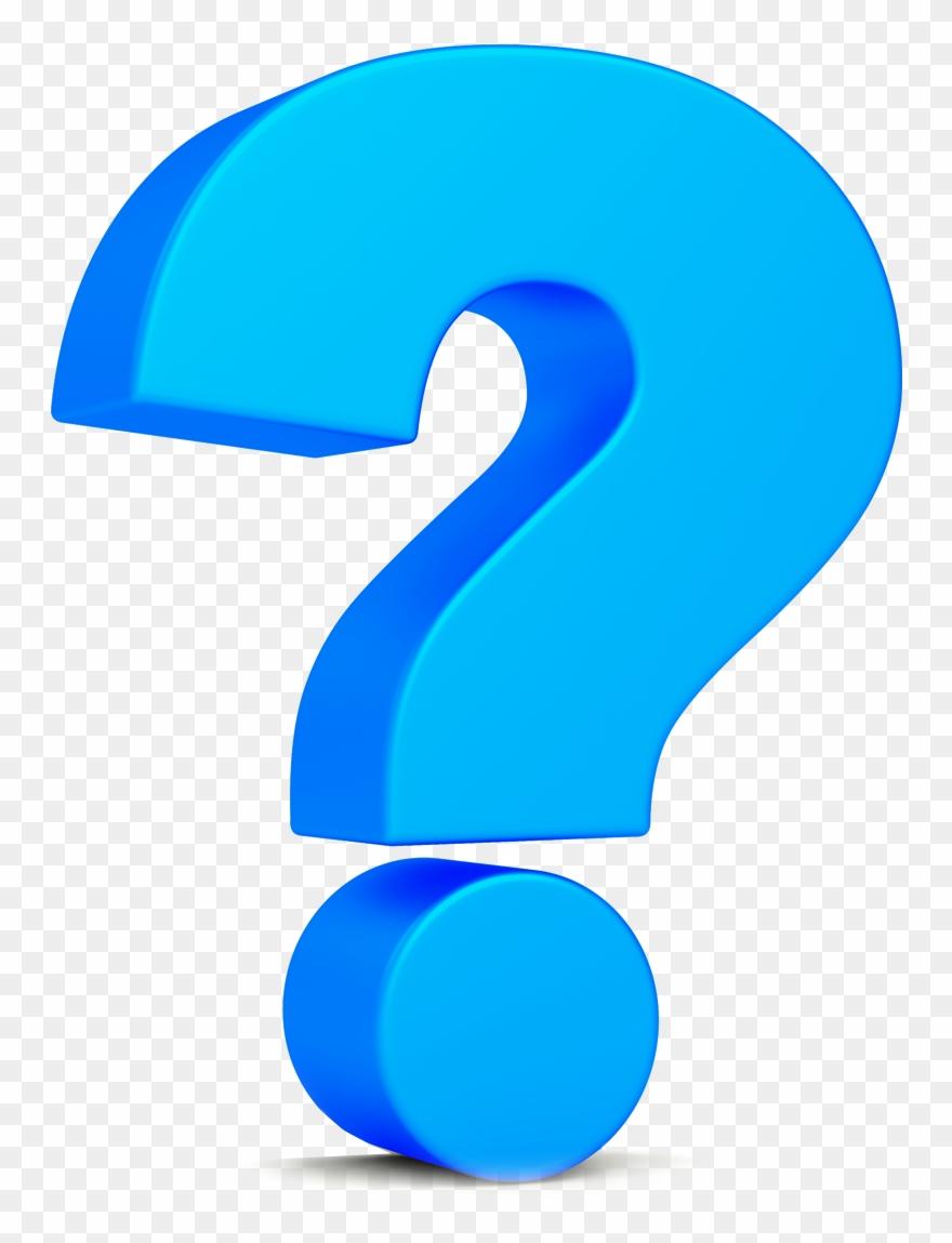 Big Blue Question Mark Clipart (#3588186).