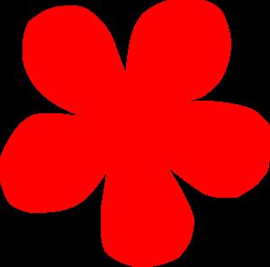 Red Flower Clip Art at Clker.com.