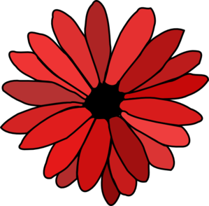 Red Flower Clipart.
