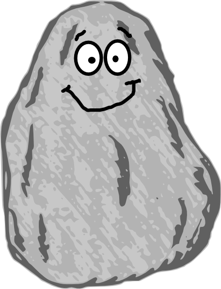 Mr. Rock Clip Art at Clker.com.