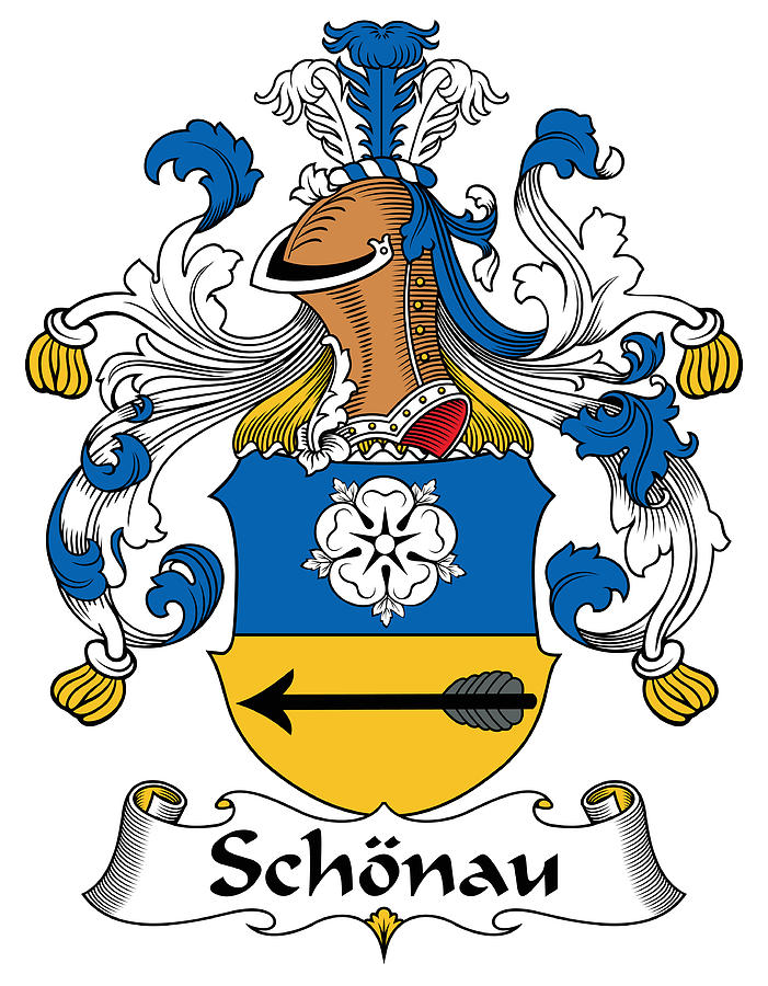 Schonau Coat Of Arms German Digital Art by Heraldry.
