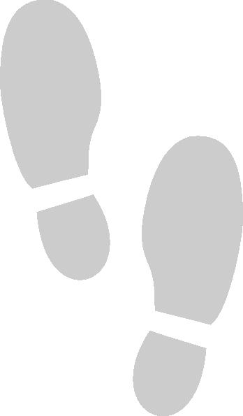 Shoe Print Grey Clip Art at Clker.com.