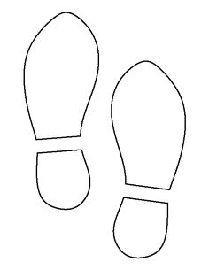 Foot pattern. Use the printable outline for crafts, creating.