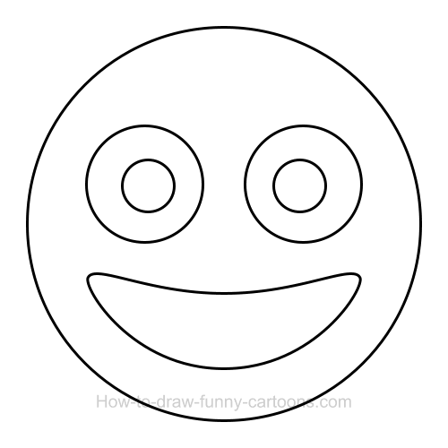 How to draw a smiley face clip art.