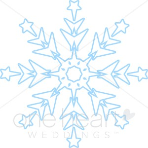 Large Snowflake Clipart.