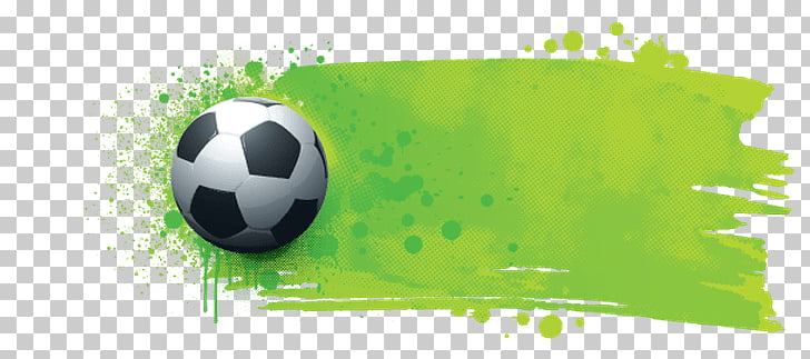 Large Football Grunge Banner, soccer ball PNG clipart.