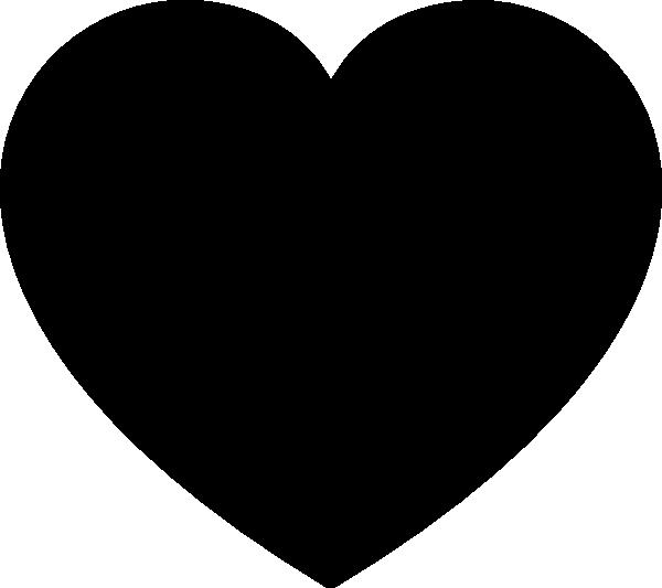 Solid Black Heart Reduced Clip Art at Clker.com.