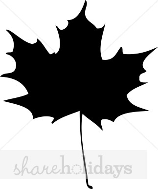 Solid Maple Leaf Clipart.
