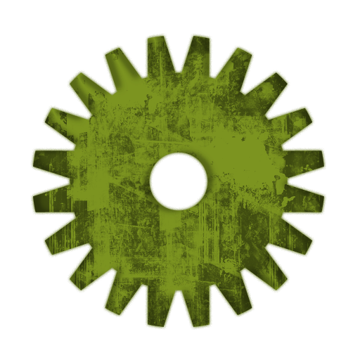 Large Solid Gear Icon #082042 » Icons Etc.