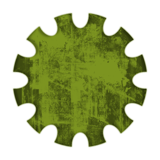 Large Solid Gear Shaped Icon #082037 » Icons Etc.