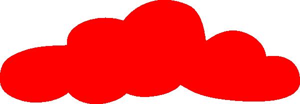 Solid Red Cloud Clip Art at Clker.com.