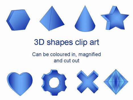 Solid shapes clip art.