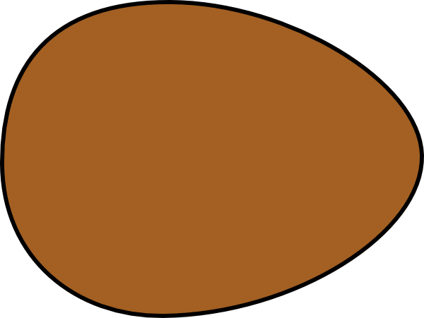 Solid Brown Egg Clip Art at Clker.com.
