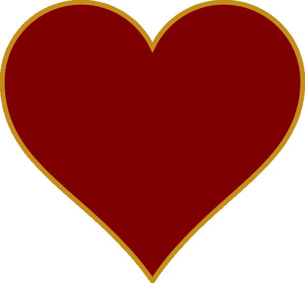 Solid Gold Heart Clip Art at Clker.com.