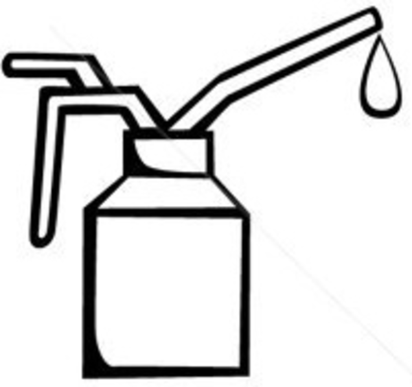 Stock Vector Spout Oiler Can Applicator.