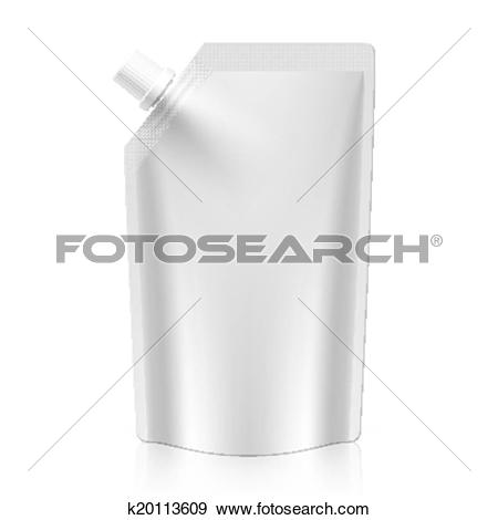 Clip Art of Blank spout pouch, bag k20113609.