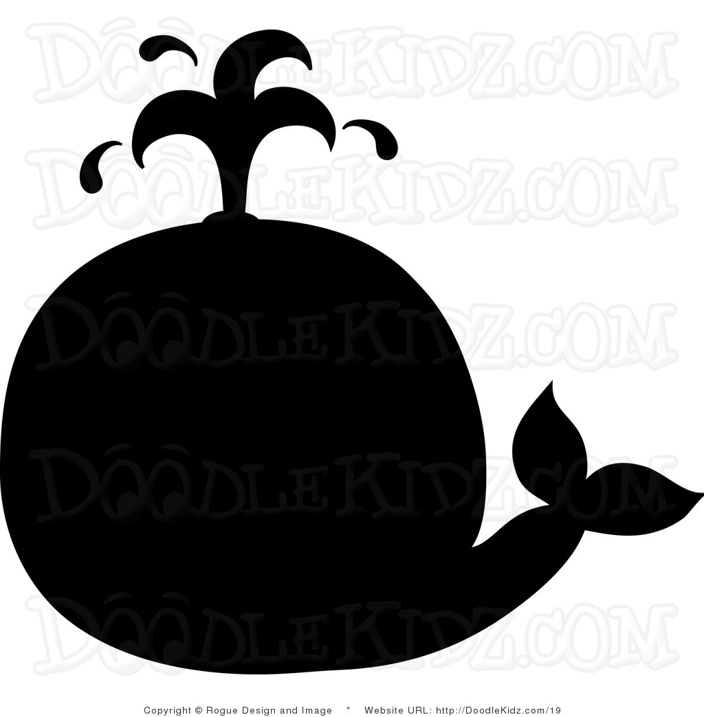 Whale Black And White Clip Art Water spout clipart - ...