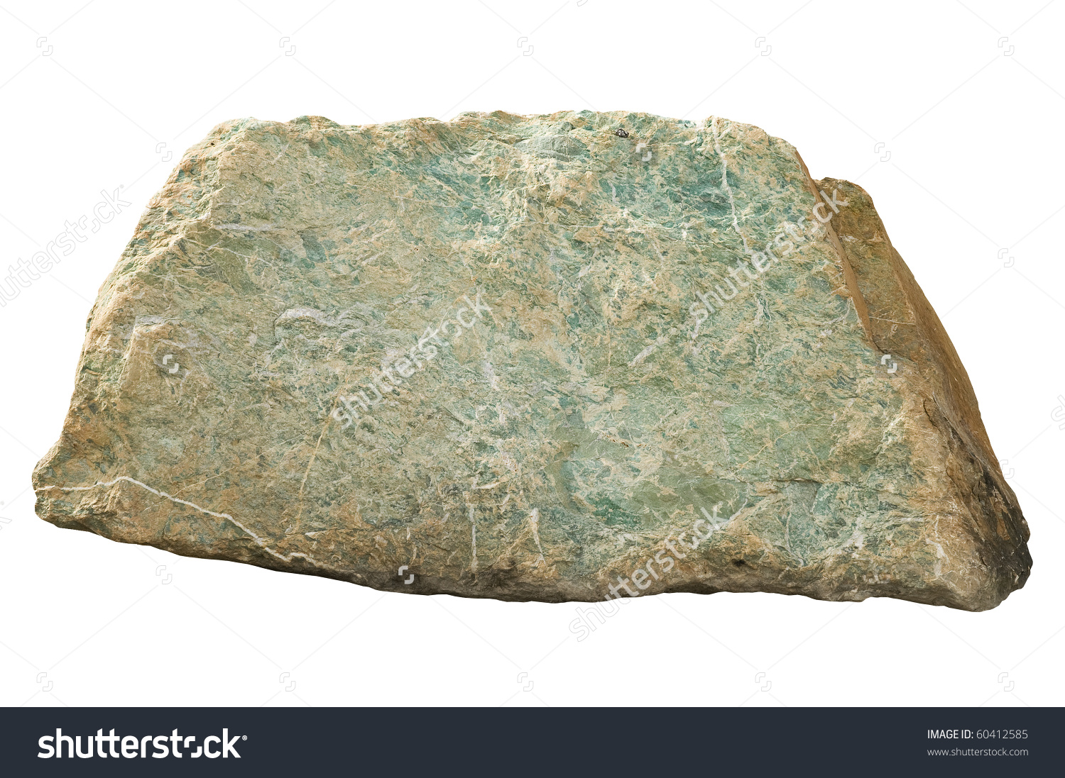 Large Heavy Piece Stone On White Stock Photo 60412585.