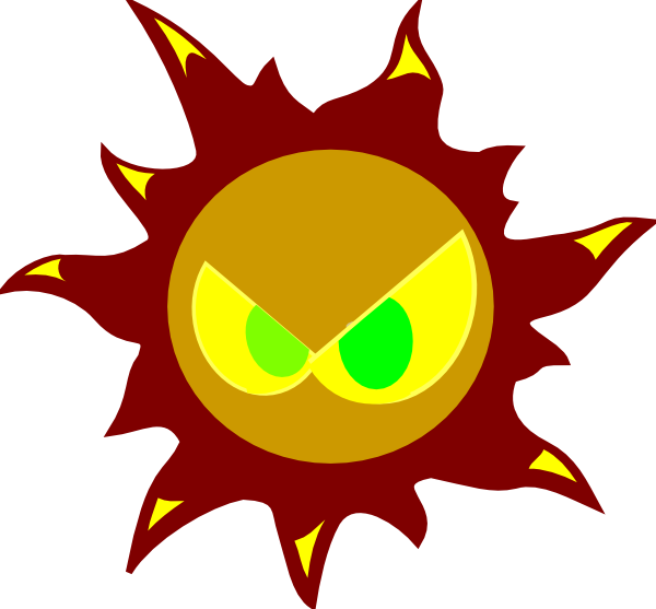 Angry Sun Clip Art at Clker.com.