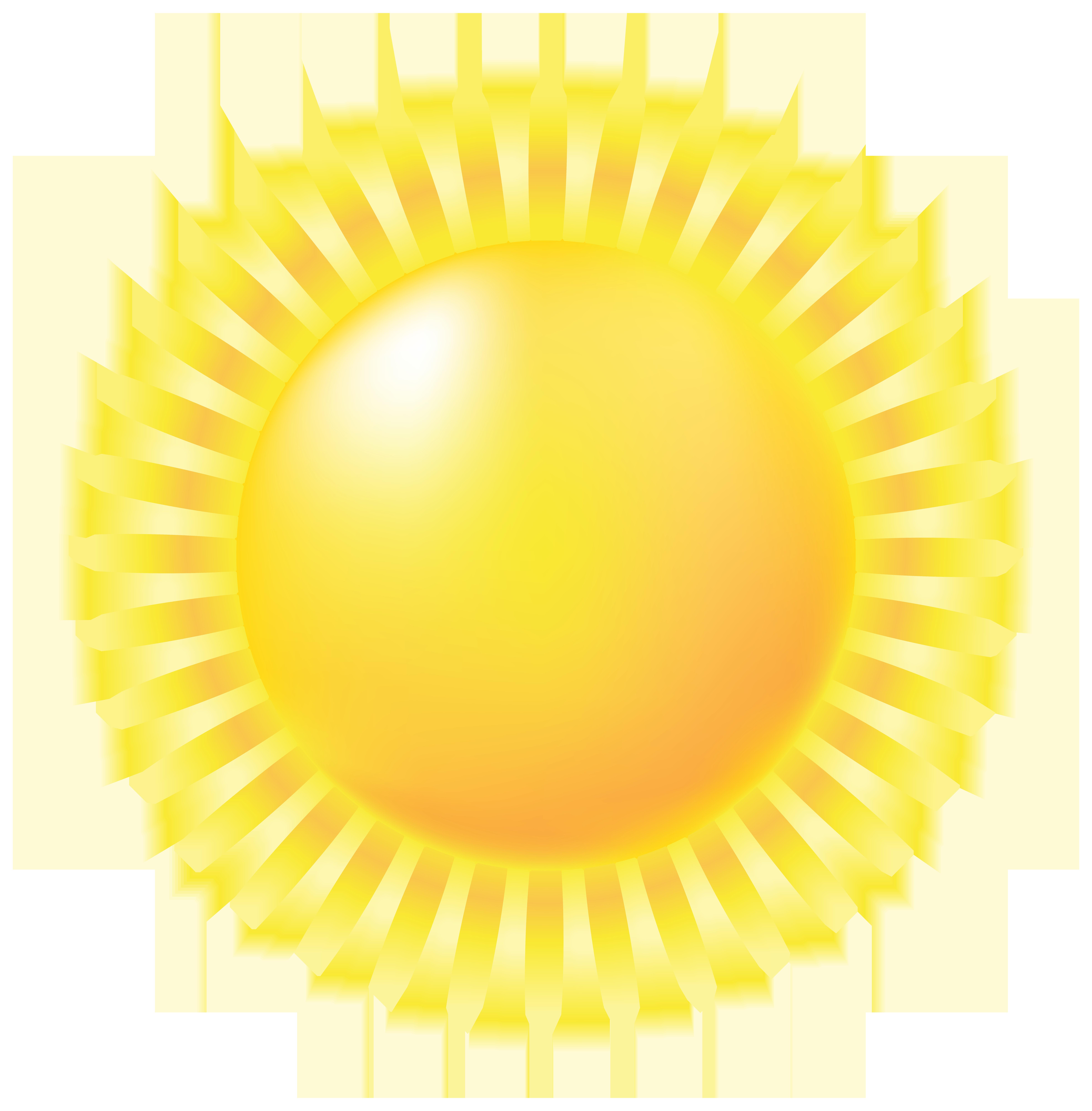Sun PNG Large Transparent Clip Art Image.