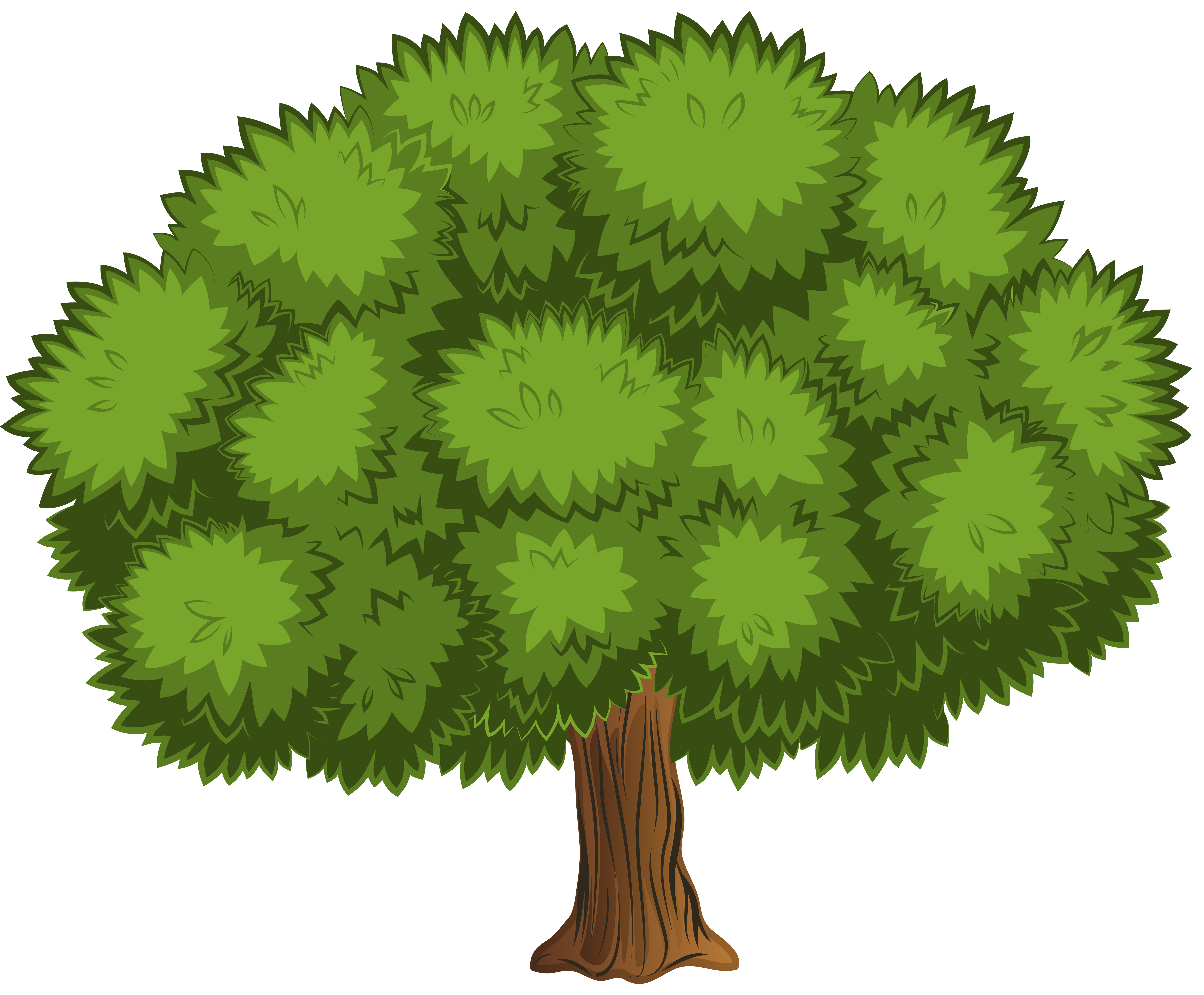 Large Tree PNG Clip Art Image.