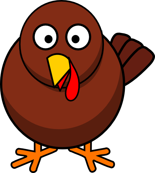 Simple Cartoon Turkey PNG, SVG Clip art for Web.