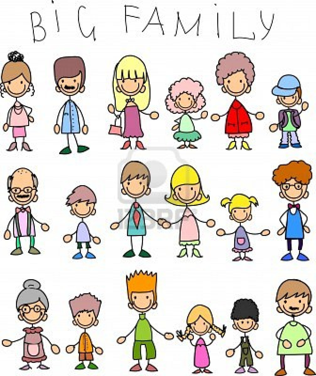 Large Family Clipart.