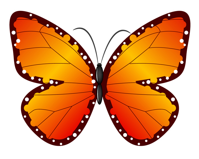 Largest butterfly clipart - Clipground