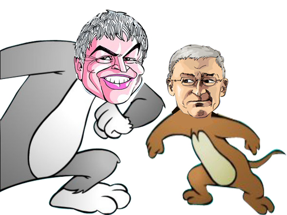 Tech Giants, Genetically Related with Cartoon Characters.