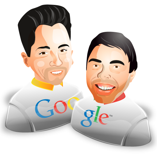 sergey brin larry page icon.