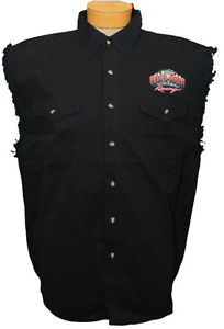 Mens Larry The Cable Guy Sleeveless Button Up Shirt Git Done.