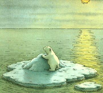 Little polar bear Clip Art.